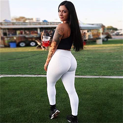 Pantalones de yoga Leggings Push High Cintura Entrenamiento Deporte Tights Transport Pantalones Mujer Gimnasio Yoga &787 (Color : K189054 white, Size : Medium)