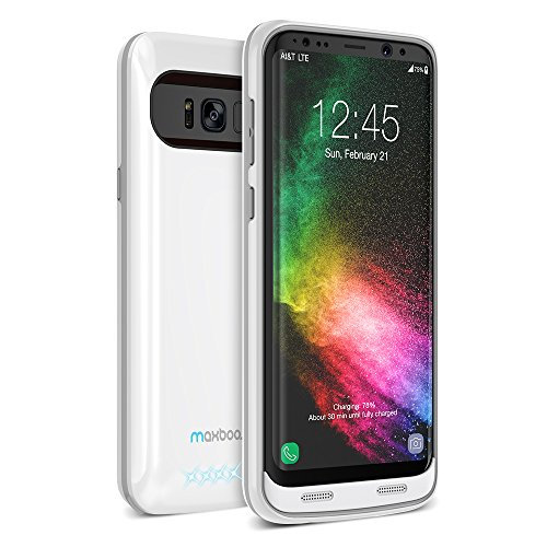 Galaxy S8 Plus Battery Case, Maxboost Atomic Power 5000mAH Charging Battery Pack for Samsung Galaxy s8 Plus / s8+ Extended Fast Charger [Quick Charge Compatible] Protective Case Juice Bank (MB000154)