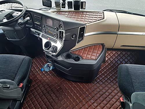 Mercedes ACTROS MP4 klappbarer oder Fester Beifahrersitz Fußmatten Teppiche LKW Truck