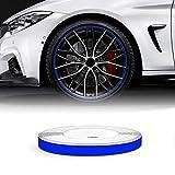 Quattroerre Bandes Wheel Stripes Réfractifs pour les Jantes des Motos, Bleu, 5 mm x 6 mt