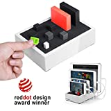 Avantree 4 Port Universal Multi USB Ladestation für Mehrere Geräte, Tablet Handy Mehrfach...