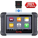 Autel MaxiCOM MK808BT Full System OBD2 Diagnostic Scanner with 25 Services Function, Injector Coding, ABS Auto Bleed, Oil Reset, EPB, BMS, SAS, DPF, Advanced Version of MK808,MX808, 2021 Newest