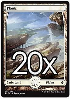 20 Battle for Zendikar Plains #251 Magic the Gathering Basic FULL ART Land Lot