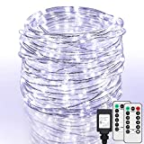 SHINE HAI 99Ft LED Rope Lights Outdoor, 500 LEDs Fairy String Lights Plug in 8 Modes, Dimmable, Super Durable, Waterproof String Lights Outdoor Indoor for Patio Wedding Christmas (Daylight White)