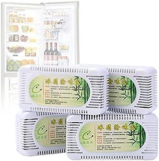 XKMY Lot de 2 boîtes de déodorants pour réfrigérateur - Purificateur d'air au charbon actif de bambou - Absorbeur d'odeurs...