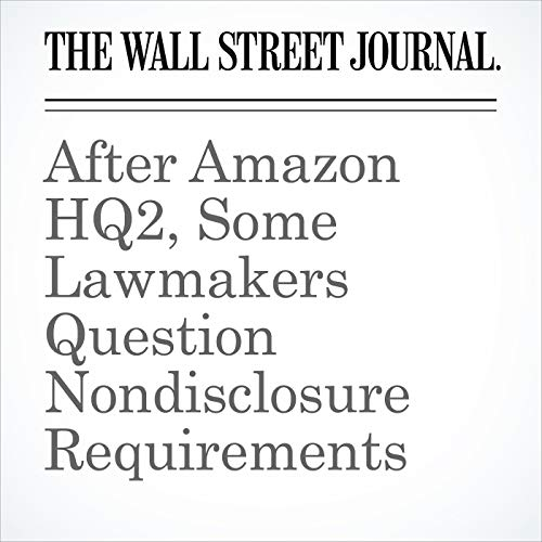 After Amazon HQ2, Some Lawmakers Question Nondisclosure Requirements audiobook cover art
