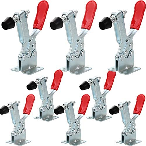 8Pack Hand Tool Toggle Clamp 201B Antislip Red Horizontal Clamp 220lbs Holding Capacity Quick product image