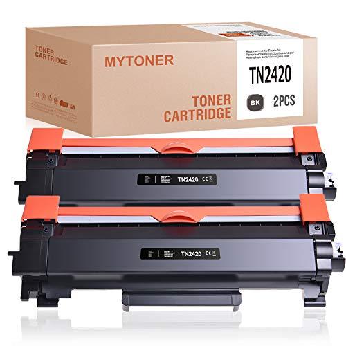 MYTONER Brother TN-2420 TN2420 compatibile per Brother MFC-L2710dw MFC-L2710dn MFC-L2750dw HL-L2350dw HL-L2370dn HL-L2375dw DCP-L2530dw (nero, confezione da 2)