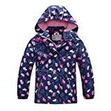 Girls Rain Jacket – Waterproof Jacket for Girls with Hood,Best for Rain School Day,Hiking and Camping(1301,6)