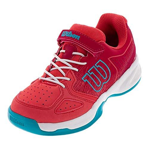 Wilson KAOS Junior Tennis shoes, Paradise Pink/White/Peacock Blue, 11