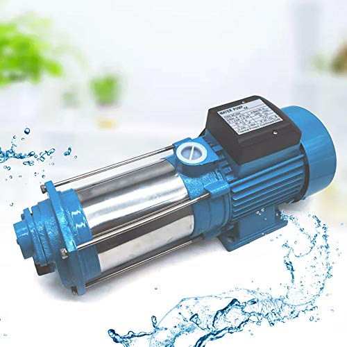 1300/2200/2500W Kreiselpumpe Hauswasserwerk Gartenpumpe Pumpensteuerung Wasserpumpe 5-stufige Zentrifugalpumpe, Schutzklasse IP44 (2200W)