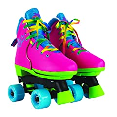 Jojo Siwa design: skate in style featuring designs by dancer, singer, actress, and YouTube personality, JoJo Siwa Adjustable: Perfect roller skates for growing kids who love to skate! Features an easy push button with adjustable sizing to accommodate...