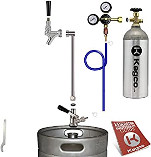 Kegco EBUKP-5T Ultimate Keg Party Kit Beer Dispenser with 5 lbs. Co2 Tank