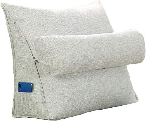 Almohadas de lectura Lectura almohada almohada almohada triángulo respaldo cuña cojín cintura almohada sofá silla de oficina lectura almohada trasero cojín cuña almohada con rol de cuello tv ceset Cab