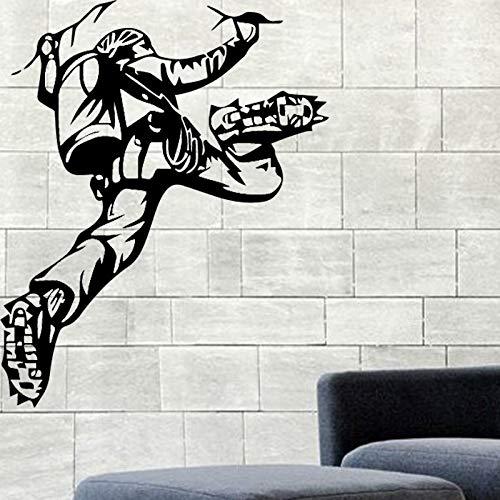 Tianpengyuanshuai Design Kletterer Vinyl Aufkleber Berglandschaft Hauptdekoration Wand 30X37cm