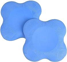 Fdrirect 1 par de almofadas de joelho para ioga, almofada de apoio confortável, formato de estrela de quatro pontas, espum...