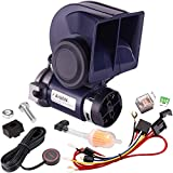FARBIN Air Horn for Car,Train Horn for Trucks,Loud 12v Car Horn Kit with Relay Harness and Switch Button(12V, Blue horn with button)