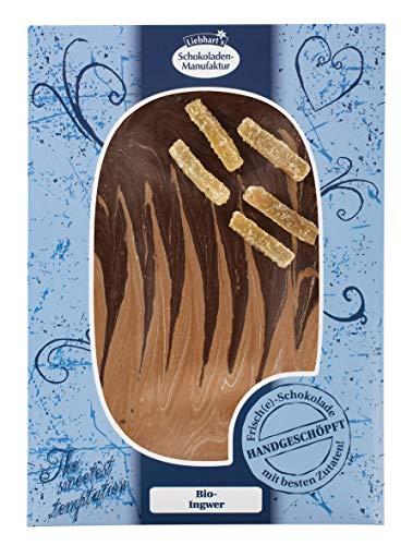 Liebharts Schokolade handgeschöpft zartbitter Vollmilch Ingwer, 150 g
