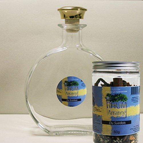 Floralpina karaf leeg 750 ml + rum gearrangeerd Zweeds