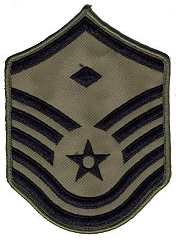 Air Force Chevrons for ABU Uniform-PAIR-LARGE OR SMALL (LARGE, MSGT1S)