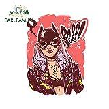 A/X 13 cm 9,8 cm para Batman Babs Girl Pegatinas de Coche de Dibujos Animados Material de Vinilo de Moda Impermeable para Aire Acondicionado portátil