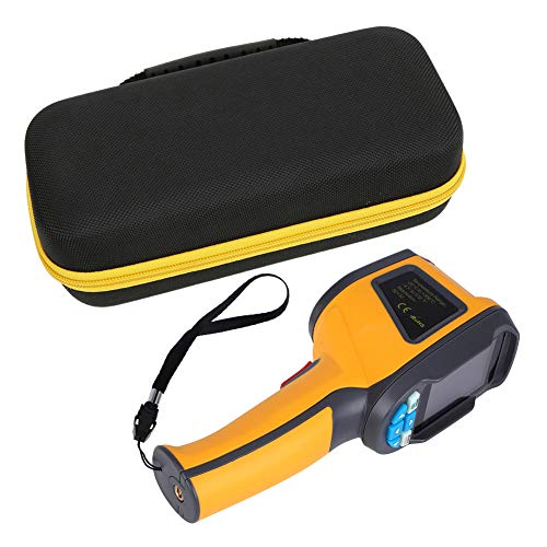 Akozon Cámara termográfica infrarroja(IR) HT-02D Termómetro infrarrojo portátil profesional 1024 píxeles-6Hz Frecuencia de actualización-Pantalla a color de 2,4 pulgadas Funda protectora Tarjeta SD 4G