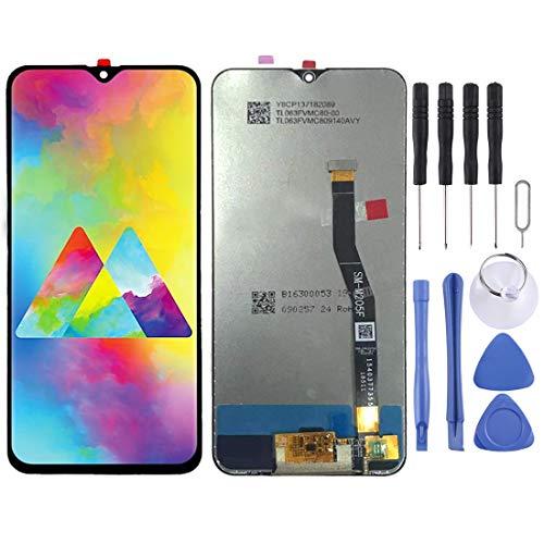 FENSHIX Schermo LCD e Digitizer Assemblaggio Completo for Parti di Ricambio Samsung Galaxy M20 Sostituzione (Color : Black)