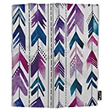 Mugod Arrows Throw Blanket Multi-Colored Pens Tribal Bohemian Style Blue Purple White Soft Cozy Fuzzy Warm Flannel Blankets Home Decor Living Room Dorm Bed Chair Couch Sofa 50W x 60H Inch