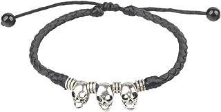 Ancient Tribe Bracelet de cheville r/églable Fait /à la main Cuir