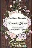 Mon Carnet Planner de Ramadan Kareem pour musulmans Femme Homme Enfant: 30 Jours de TRESOR /...