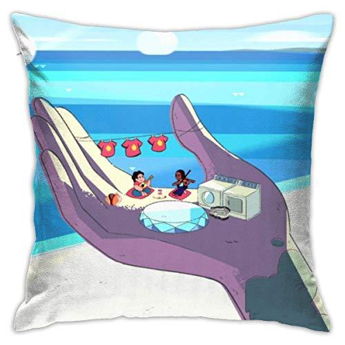 LUCKY Home Fundas de almohada decorativas de algodón para salón, sofá, cama, fundas de almohada suaves, 45 x 45 cm