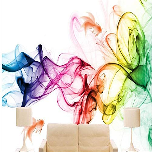 Wandbild Tapeten Wandtattoos3D Fototapete Rauch Muster Bunte Für Wohnzimmer Schlafzimmer Große Wandbilder Tapete Wasserdicht Gedruckt Wandbilder @ 150 * 105 Cm