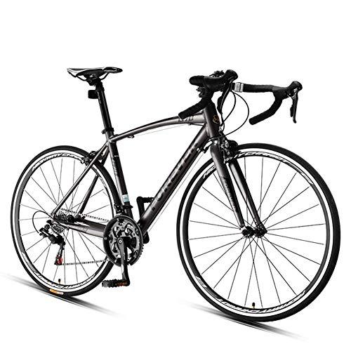 AZYQ Bicicleta de carretera de 16 velocidades, bicicleta de carretera para hombres y mujeres, bicicleta ultraligera con marco de aluminio, ruedas 700 * 25C, perfecta para carretera o Dirt Trail Touri