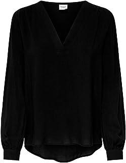 JDY Dames Blouse Trui Shirt Longsleeve Top Alleen V Hals