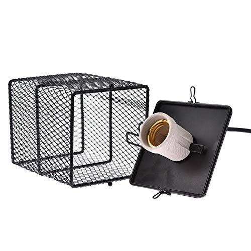 Pantalla de calefacción por mascotas 200W anti-quemaduras Bombilla Pantalla reptil protección del calentador de calefacción de la lámpara del recinto protector jaula de metal cubierta de la lámpara de