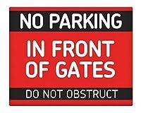 2個 ゲートの前に駐車場はありませんコーヒーハウスまたは家の壁の装飾スタイルの金属錫サイン8X12インチ