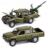 Simular Carro de ejército de coches de juguete blindada, 1: 32, de sonido y luz LED para los muchachos niños pequeños regalos de cumpleaños de Navidad, Diecast metal modelo de vehículo militar,Verde