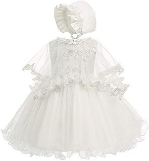 XFentech Princess Dress - Kids Girls Baptism Dress Birthday Party Photography Dress,Beige,3M(0-4 Months)