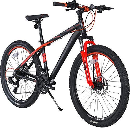 KRON XC-100 Hardtail Aluminium Mountainbike 29 Zoll, 21 Gang Shimano Kettenschaltung mit Scheibenbremse | 18 Zoll Rahmen MTB Erwachsenen- und Jugendfahrrad | Schwarz Orange