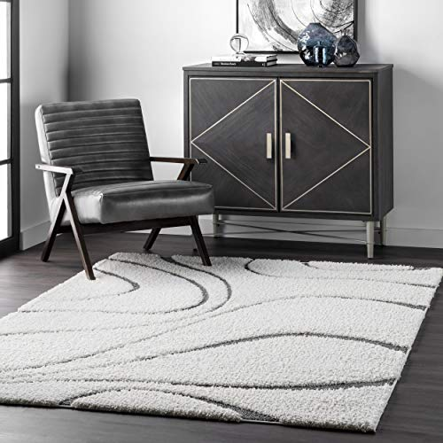 nuLOOM Carolyn Cozy Soft & Plush Shag Accent Rug, 2 Feet x 3 Feet, Beige