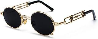 男性オーバルサングラススチームパンクの女性のヴィンテージのための高品質の金属のサングラス