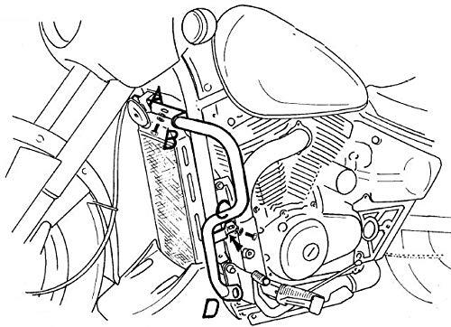 Hepco&Becker Motorschutzbügel - Chrom für Suzuki VZ 800 Marauder