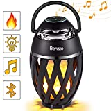LED Bluetooth Speaker by Benzzo - Portable Desk Lamp Flickers Flame Light and HD Sound...