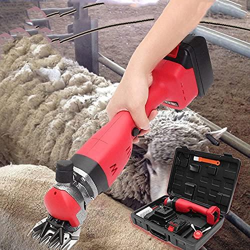 BILXXY Tijeras de Oveja inalámbricas, Tijeras de Corte de Oveja eléctricas Profesionales para Afeitar Lana de Piel en ovejas, Cabras, Ganado, Ganado de Granja, Mascotas