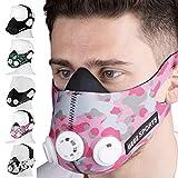 Geez - Máscara de Entrenamiento Profesional para Entrenamiento en altitud - Aumento de la Aptitud física, máscara de respiración, máscara de Entrenamiento, máscara de hipoxia, Training Mask (Pink)