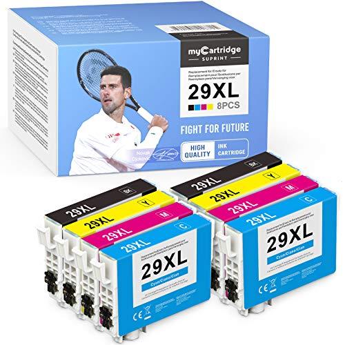 8 myCartridge SUPRINT 29XL Cartuchos de tinta de repuesto para Epson 29 29XL compatibles con Epson Expression Home XP-235 XP-240 XP-245 XP-247 XP-330XP-332 XP-335 XP-340XP-342XP-345XP-430XP-432 XP-435