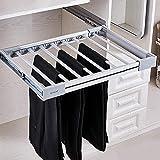XYL Pantalonero Extraible para Armario, cajón, para Bufanda, Riel de suspensión Extensible para Soporte de Corbata, Estante Organizador de Aluminio para una Profundidad de 45 cm de Ancho