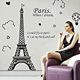 FORUU 2020 Wall Stickers Decals Murals Paris Eiffel Tower Removable Vinyl Art Decal Mural Home Room Wall StickerUnder 5 Dollars
