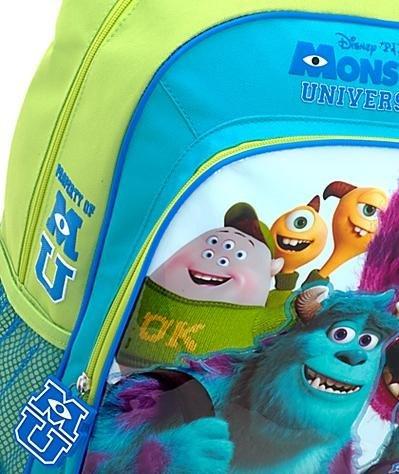 Disney Store zaino Monsters University scuola originale zainetto Sulley