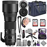 Sigma 150-600mm 5-6.3 Contemporary DG OS HSM Lens for Nikon DSLR Cameras + Sigma USB Dock with Altura Photo Complete Accessory and Travel Bundle